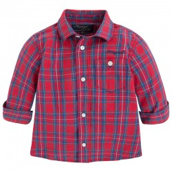Mayoral red-blue checkered shirt