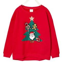 ZARA red christmas cardigan