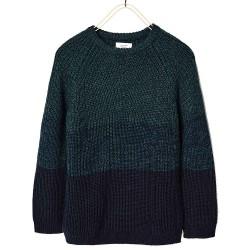 ZARA kék kötött pulóver