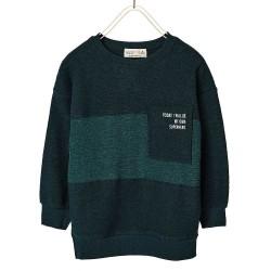 ZARA zöld zsebes pulóver