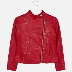 Mayoral piros műbőr kabát