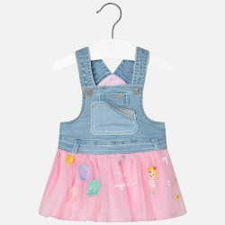 Mayoral jeans dress with tulle