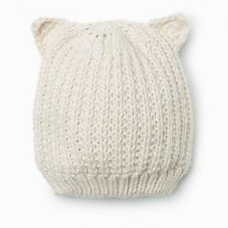 ZARA knitted white hat