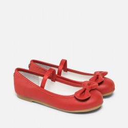 Mayoral red ballerina shoes