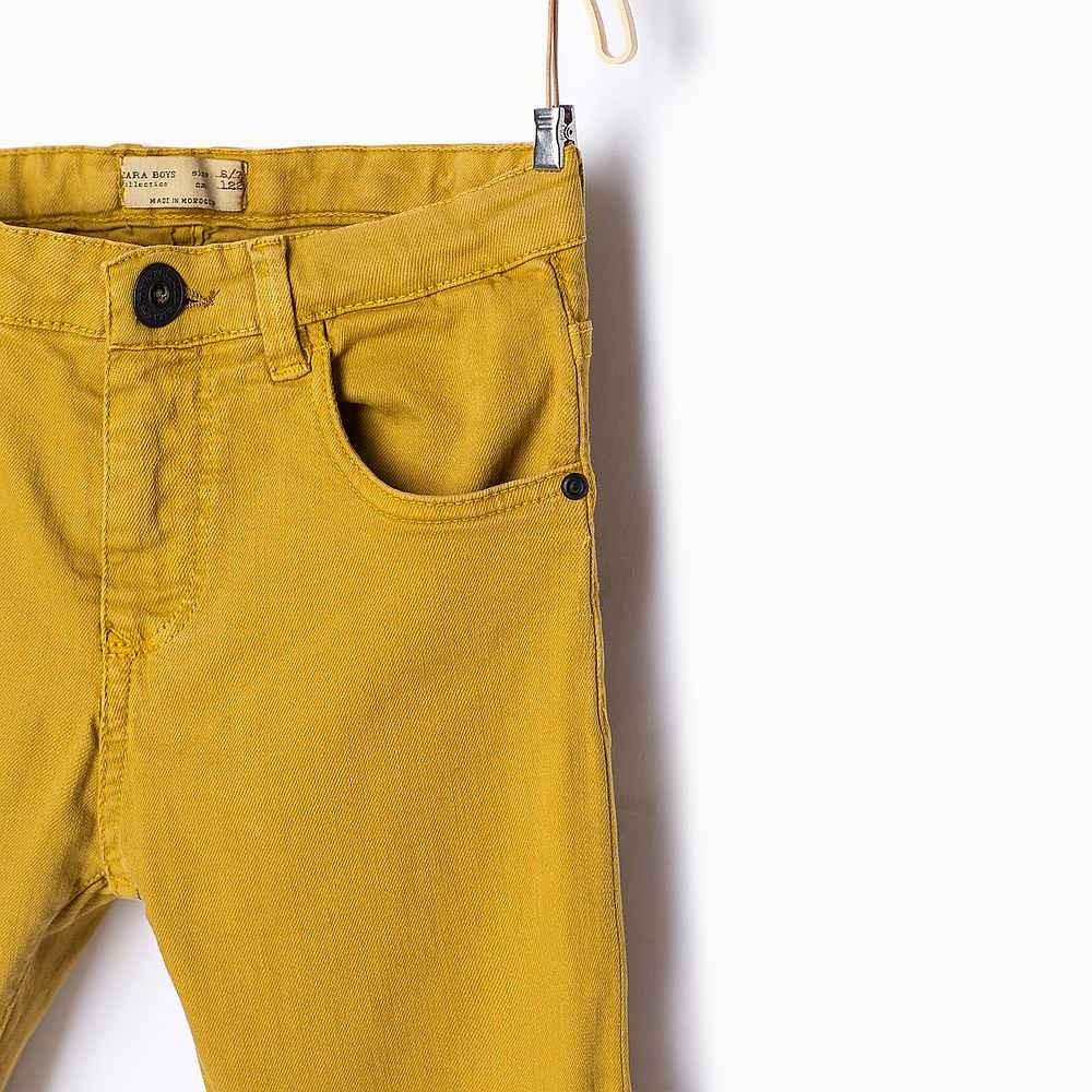 női nadrág mustáér szín