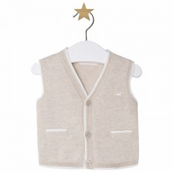 Mayoral brown knitted vest