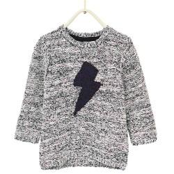 ZARA fekete fehér kötött pulóver