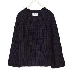 ZARA sötétkék kötött pulóver