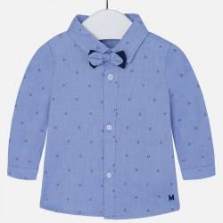 Mayoral kék ing csokor nyakkendővel