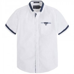 Mayoral/Nukutavake elegáns rövid ujjú fehér ing