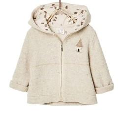 ZARA bézs kapucnis pulóver