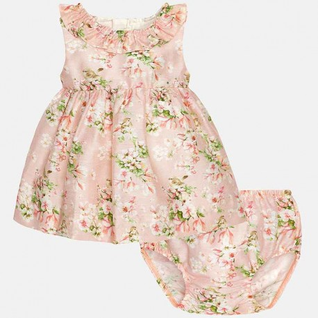 Mayoral pink dress with flowers