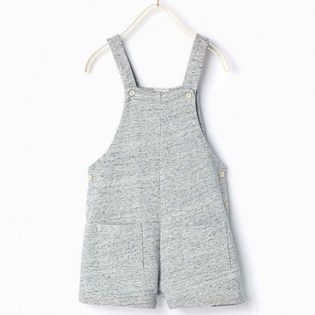 ZARA Grey Overall Shorts