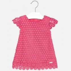 Mayoral BABY rózsaszín csipkés ruha