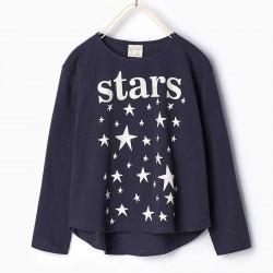 ZARA long sleeve T-shirt with stars