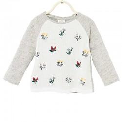 ZARA hímzett pulóver