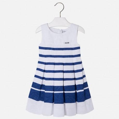 0044d1ddcd Mayoral fehér-kék elegáns ruha
