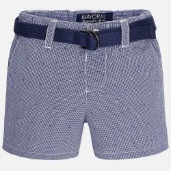 Mayoral kék kockás rövidnadrág