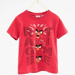 ZARA piros Angry Birds póló
