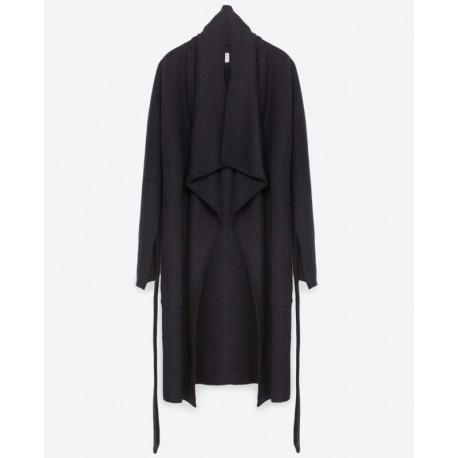 ZARA hosszú fekete kabát