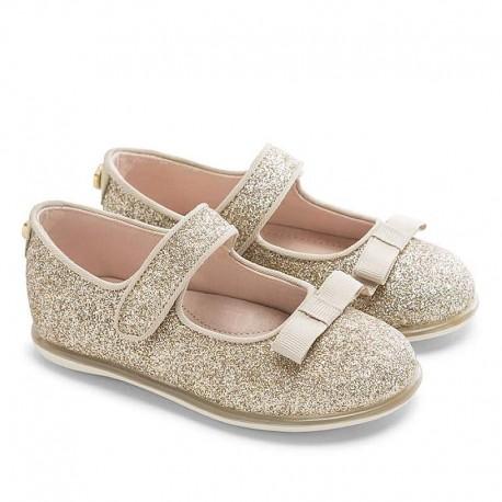 Mayoral csillogós arany cipő