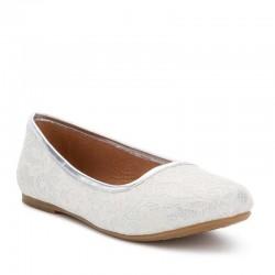 Mayoral ezüst balerína cipő csipkerátéttel