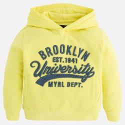Mayoral sárga pulóver kapucnival