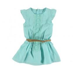 Mayoral kék csipkés  ruha