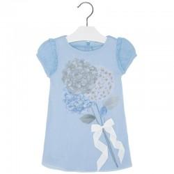Mayoral kék virágos ruha