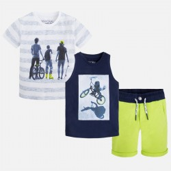 Mayoral póló + trikó + sportos rövidnadrág