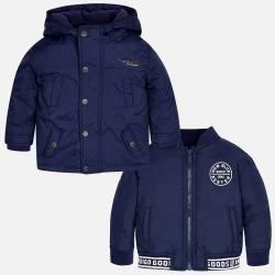 Mayoral kék kabát kivehető mellénnyel