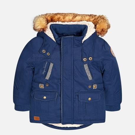 Mayoral kapucnis sötétkék kabát