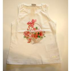 Mayoral virágos strasszos trikó