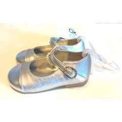 Obaibi ezüst balerina cipő