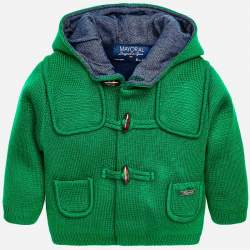 Mayoral green hooded jacket
