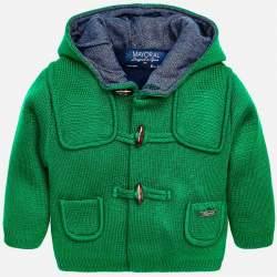 Mayoral zöld kapucnis kötött kabát