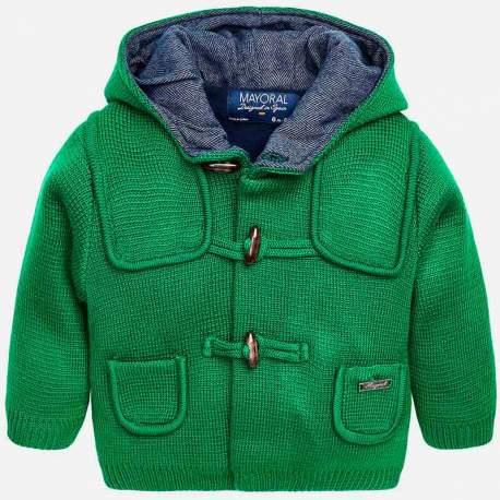 Mayoral green hooded jacket
