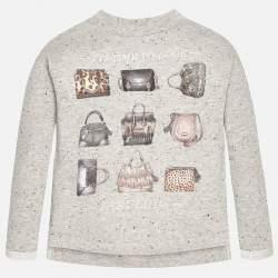 Mayoral strasszos szürke pulóver