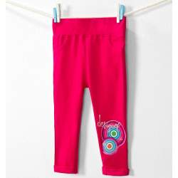 Desigual rózsaszín mintás pamut nadrág