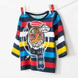 Desigual T-shirt with tiger