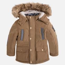 Mayoral kapucnis barna kabát