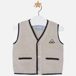Mayoral beige knitted vest