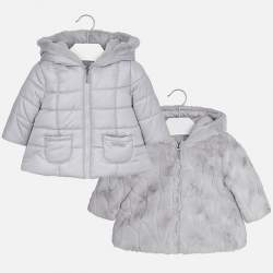 Mayoral szürke kifordíthatós dzseki