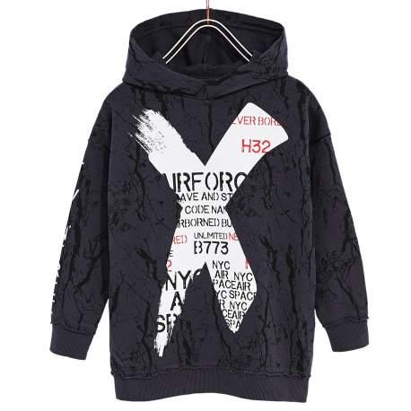 ZARA grey cardigan with hoodie