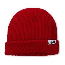 Neff Fold Beanie piros kötött sapka