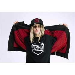 Dolly Noire Varsity Black Red kabát
