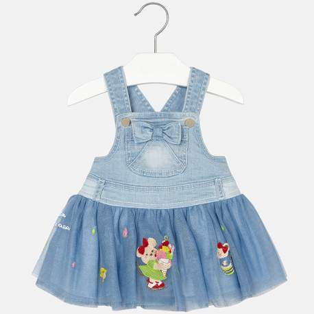 b8dff83a30b5 Mayoral jeans dress with tulle
