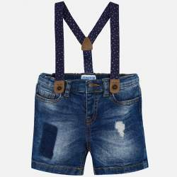 Mayoral ripped shorts with suspender