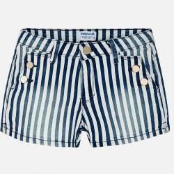 Mayoral kék-fehér csíkos koptatott rövidnadrág