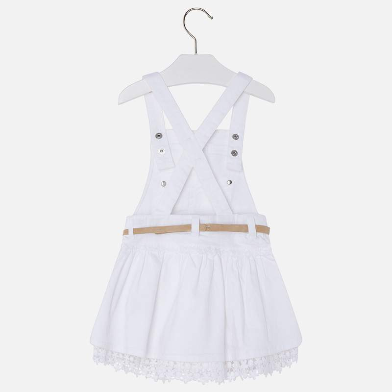 4d3a6b98c5 Mayoral white laced overall skirt · Mayoral white laced overall skirt ...